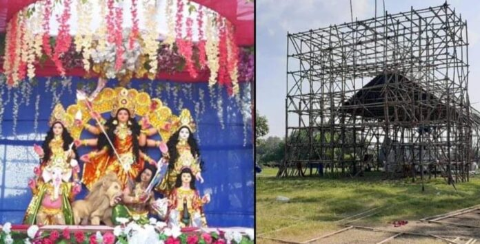 Pandel-idol of Durgapur club disappeared after the virtual inauguration!