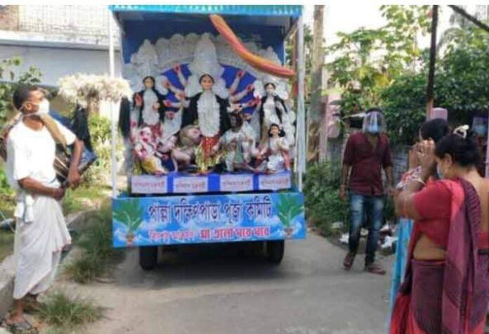Gopalnagar Palla Dakshinpara Pujo Committee did a unique job