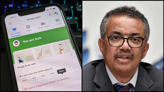 World Health Organization praises 'Arogya Setu' app