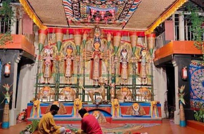 Cultural event of Hiralini Durgotsab of Sonajhuri closed due to corona