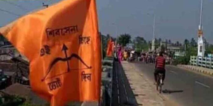 Shiv Sena flag in Mahishadal