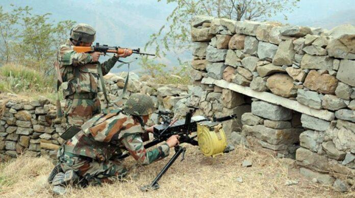 Again Pak shelling at Indian army barracks