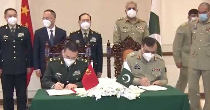 Bilateral agreement between Pakistan and Chinese Defense Minister