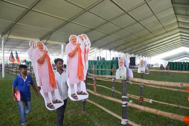 Narendra Modi's Brigade Stage Set Up Prepare