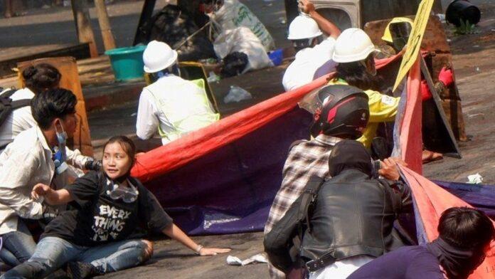 Death procession in Myanmar again!